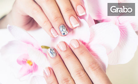 Маникюр с гел лак Bluesky и 2 декорации, от Studio New Nail & Beauty NG