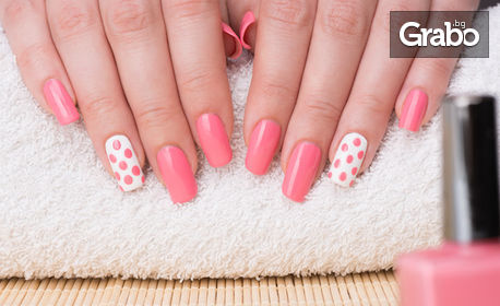 Маникюр с гел лак Bluesky, плюс 2 декорации, от Studio New Nail & Beauty NG