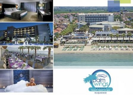 7 нощувки на база all inclusivе от хотел palm wings beach resort kusadasi 5*, Кушадасъ, самолетен билет