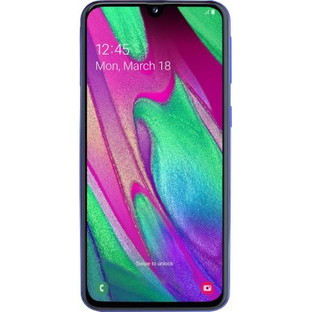 Смартфон Samsung Galaxy A40, Dual SIM, 64GB, 4G, Blue