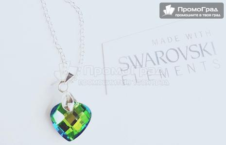 Колие Swarovski Green Diamant